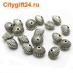 BS Бусина металлическая биконус 7,5*5 мм