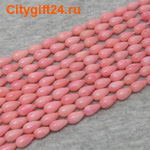 BS Бусина коралл розовый капля 9*5 мм