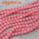 BS Бусина коралл розовый 3 мм