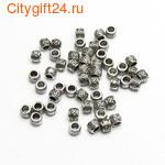 BS Бусина металлическая цилиндр 4*3 мм