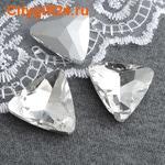 BS Кабошон граненый треугольник 23 мм
