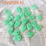 PH Бусина коралл синтетический листик 11*7*3 мм