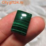Кабошон малахит натуральный 19*13*4 мм *