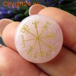 BS Кабошон розовый кварц 25*6 мм *