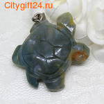 PH Подвеска халцедон черепаха 42*35*10 мм *