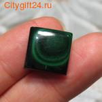 Кабошон малахит натуральный 14*14*4 мм *