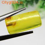 BS Кабошон янтарь натуральный 25*13*6,5 мм *